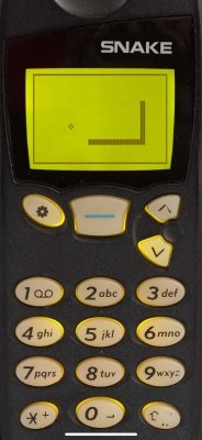 Snake '97: retro mobile phone game in action (#1)