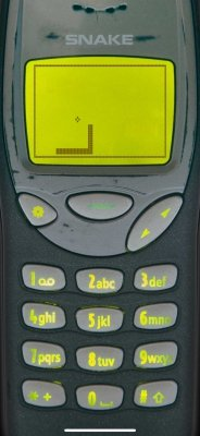 Snake '97: retro mobile phone game in action (#2)